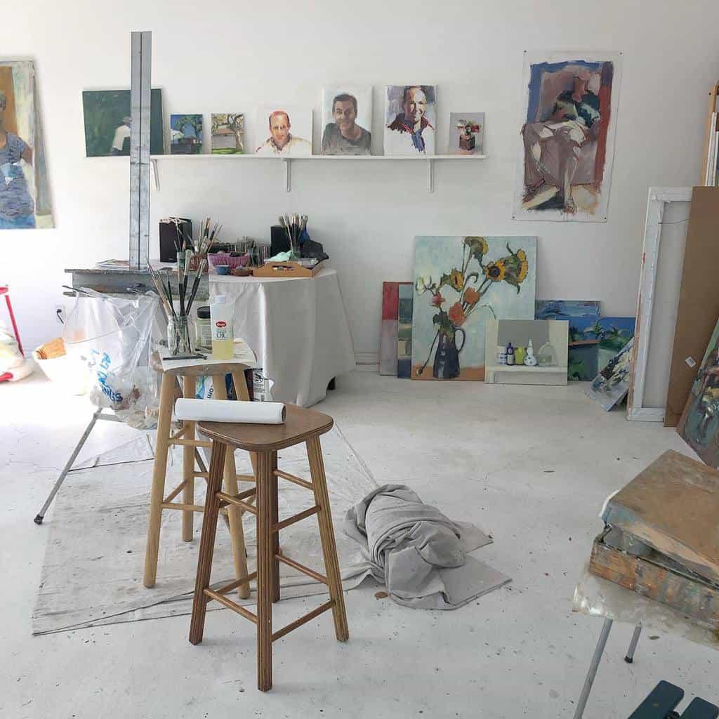 Garage Art Studio Ideas -nataliemyers