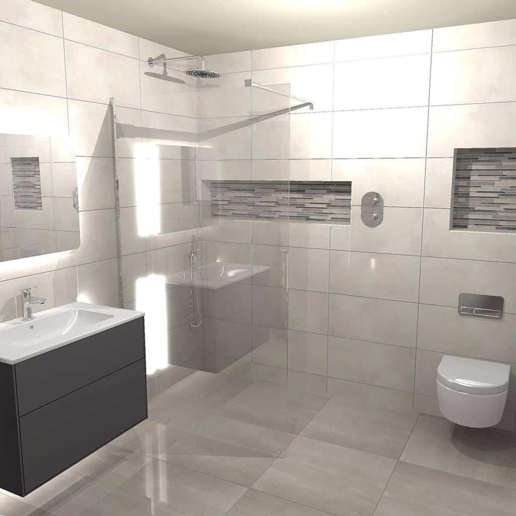 Grey Wet Room Ideas -cascadesbathrooms