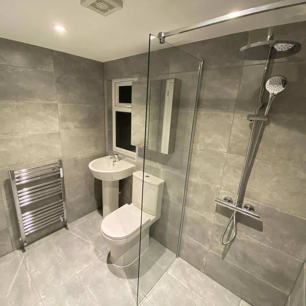 Grey Wet Room Ideas -standoutbuild