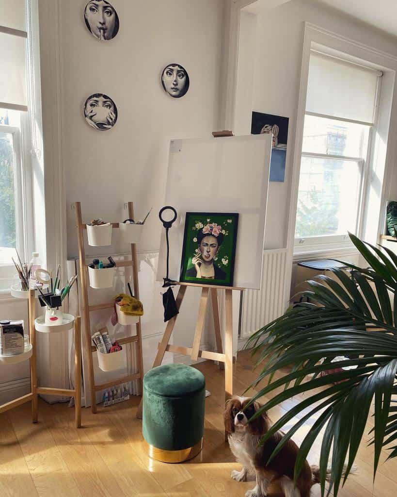 Home Art Studio Ideas -kisas_muse