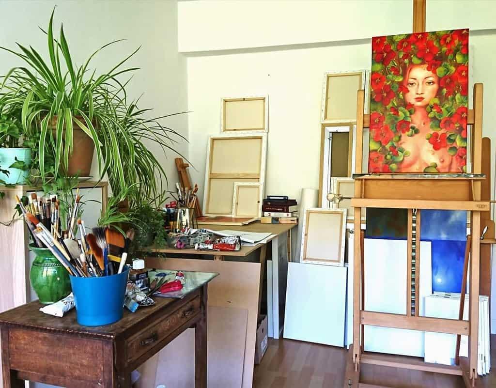 Home Art Studio Ideas -pauline_dubisy
