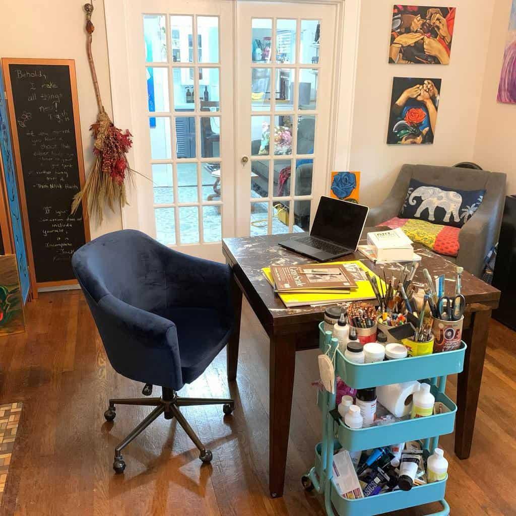 Home Art Studio Ideas -stephanielarsenart