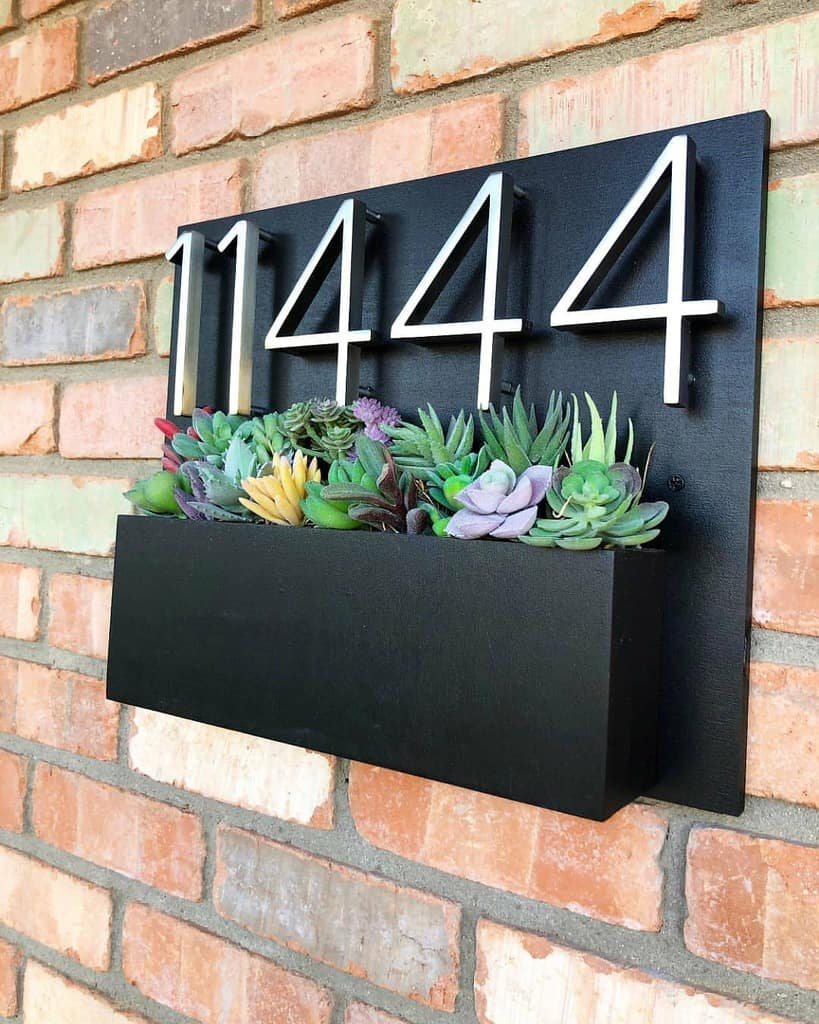 House Number Ideas with Planter 2 -theaddressplanter