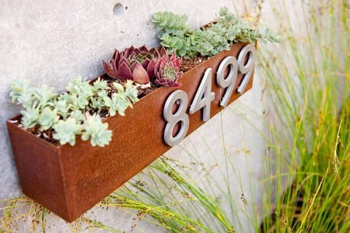 House Number Ideas with Planter -claireackermanrealtor