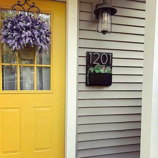 House Number Ideas with Planter -theaddressplanter