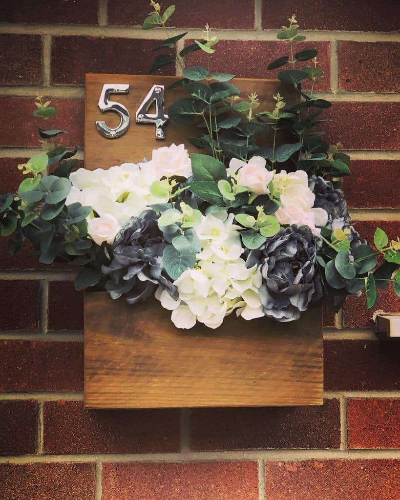 House Number Ideas with Planter -two_families_one_home