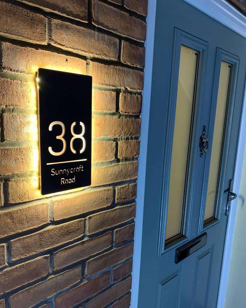 Illuminated House Number Ideas -my_sunnycroft_home