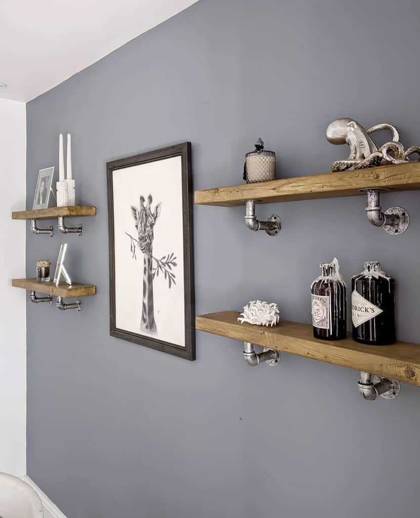 Industrial Floating Shelves Ideas -our.renovation.diary