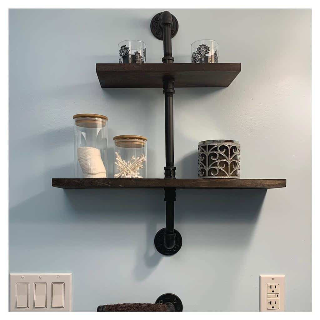 Industrial Floating Shelves Ideas -pipeworkpieces