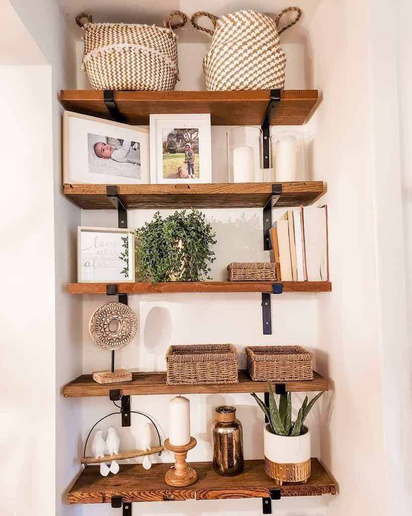 Industrial Floating Shelves Ideas -steelwood_craft