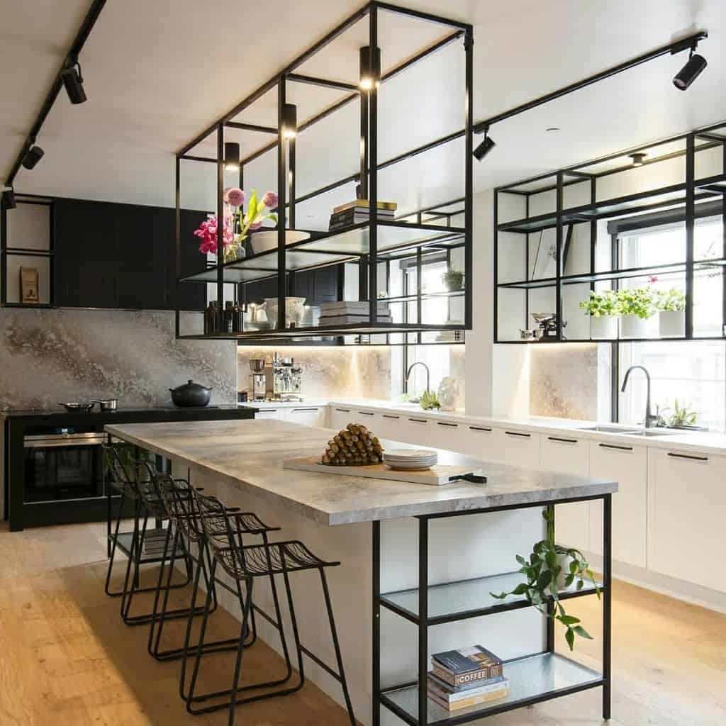 Kitchen Floating Shelves Ideas -freedom_kitchens