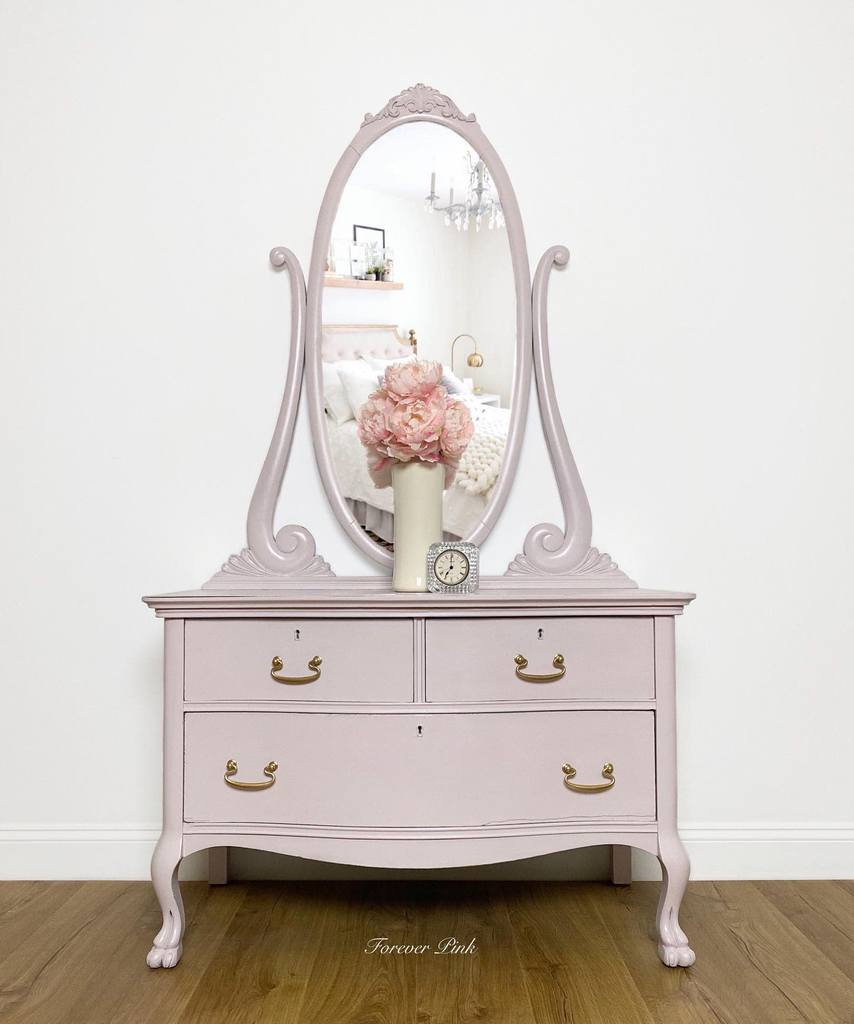 Light Color Chalk Paint Furniture Ideas -foreverpinkvintage