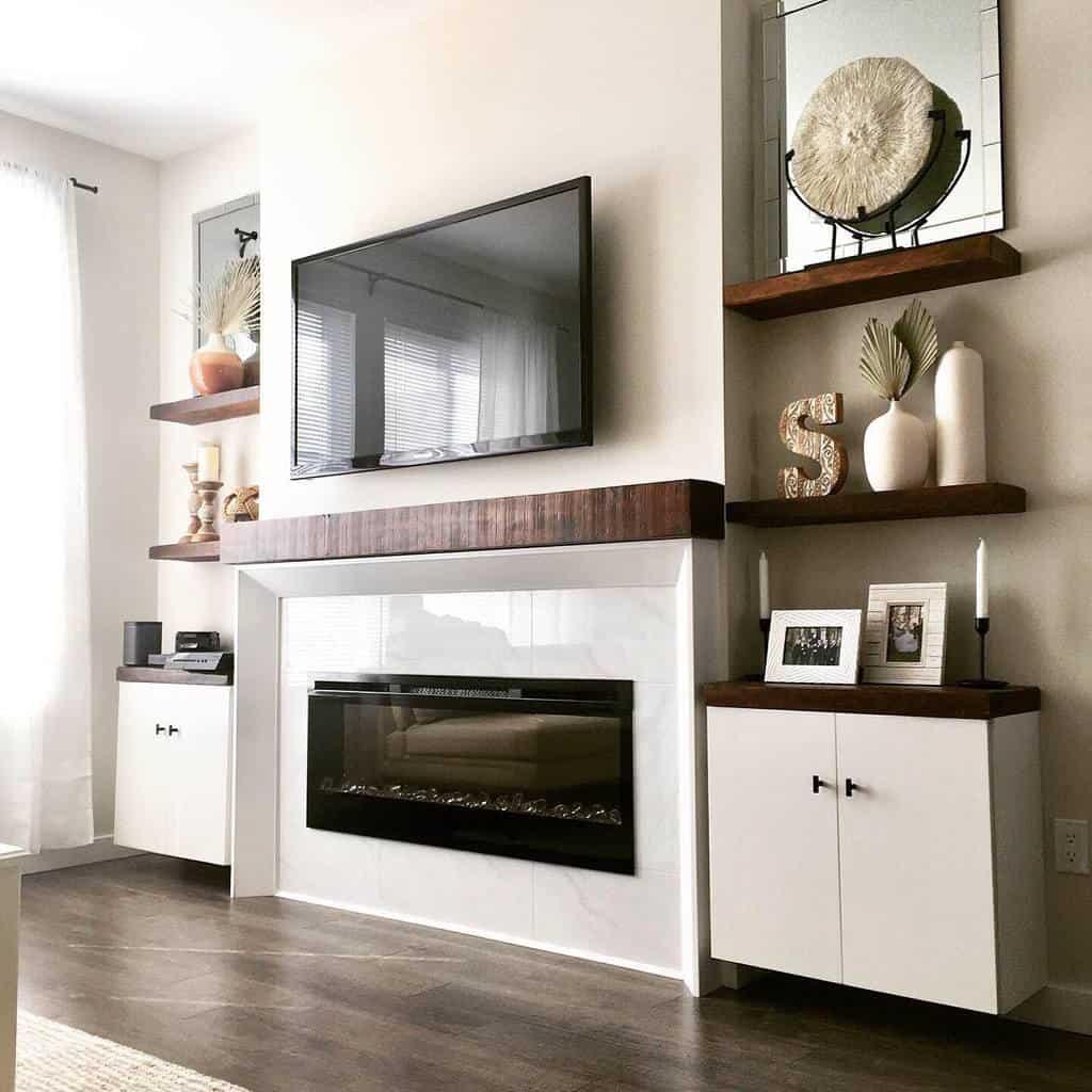 Livingroom Floating Shelves Ideas -barnhousecompany