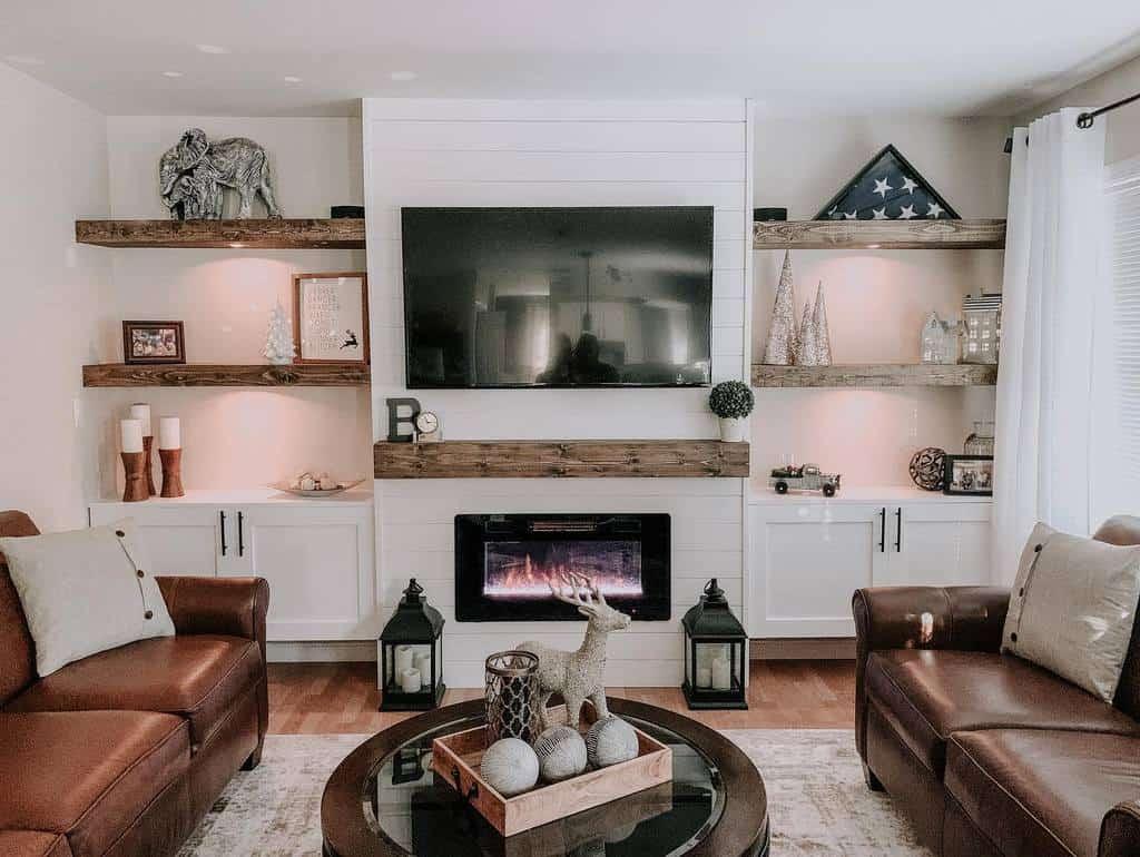 Livingroom Floating Shelves Ideas -creativityinct