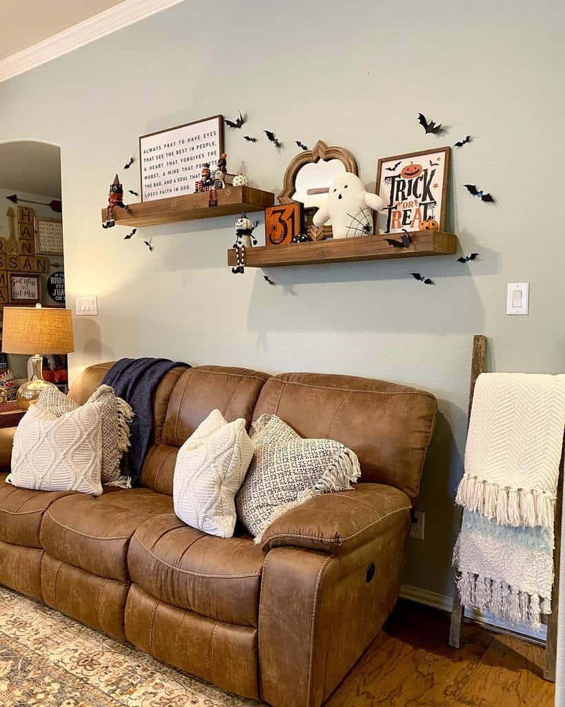 Livingroom Floating Shelves Ideas -littlecajunhouse