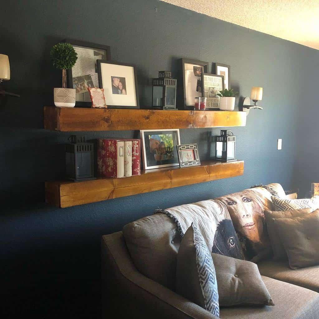 Livingroom Floating Shelves Ideas -thefrazierguy