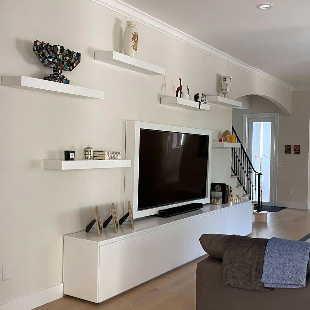 Livingroom Floating Shelves Ideas -woodzlover2020