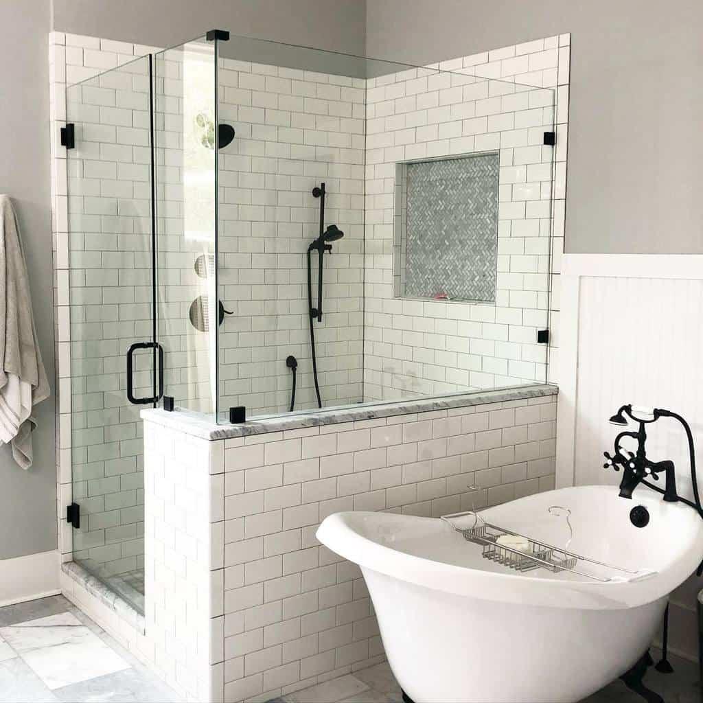 Marble Wet Room Ideas -marbleandoakfarmhouse