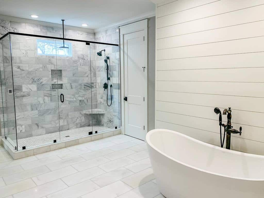Marble Wet Room Ideas -squiresfarmhouseliving