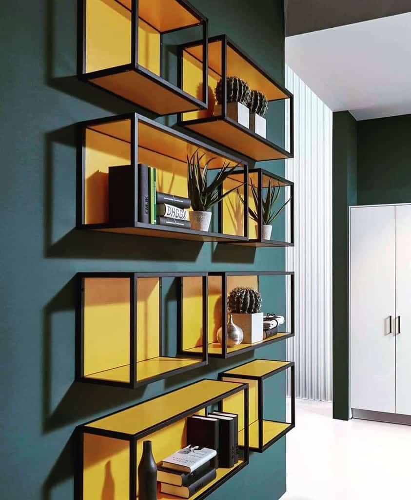 Metal Floating Shelves Ideas -carolealiazarinteriors