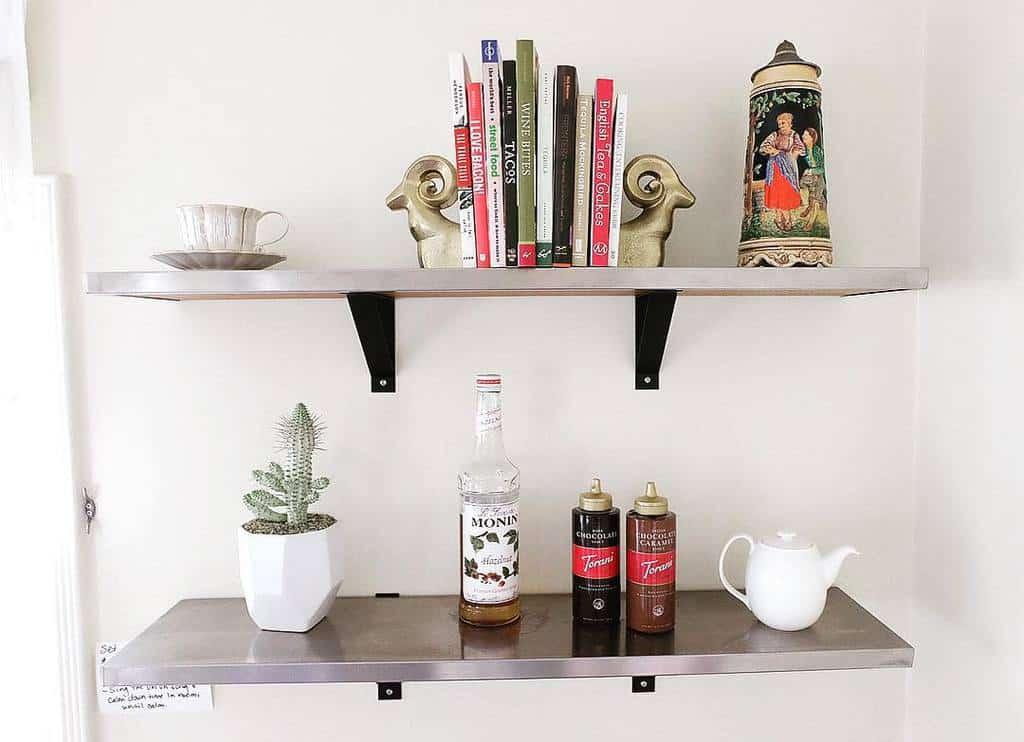 Metal Floating Shelves Ideas -mamaschaefers