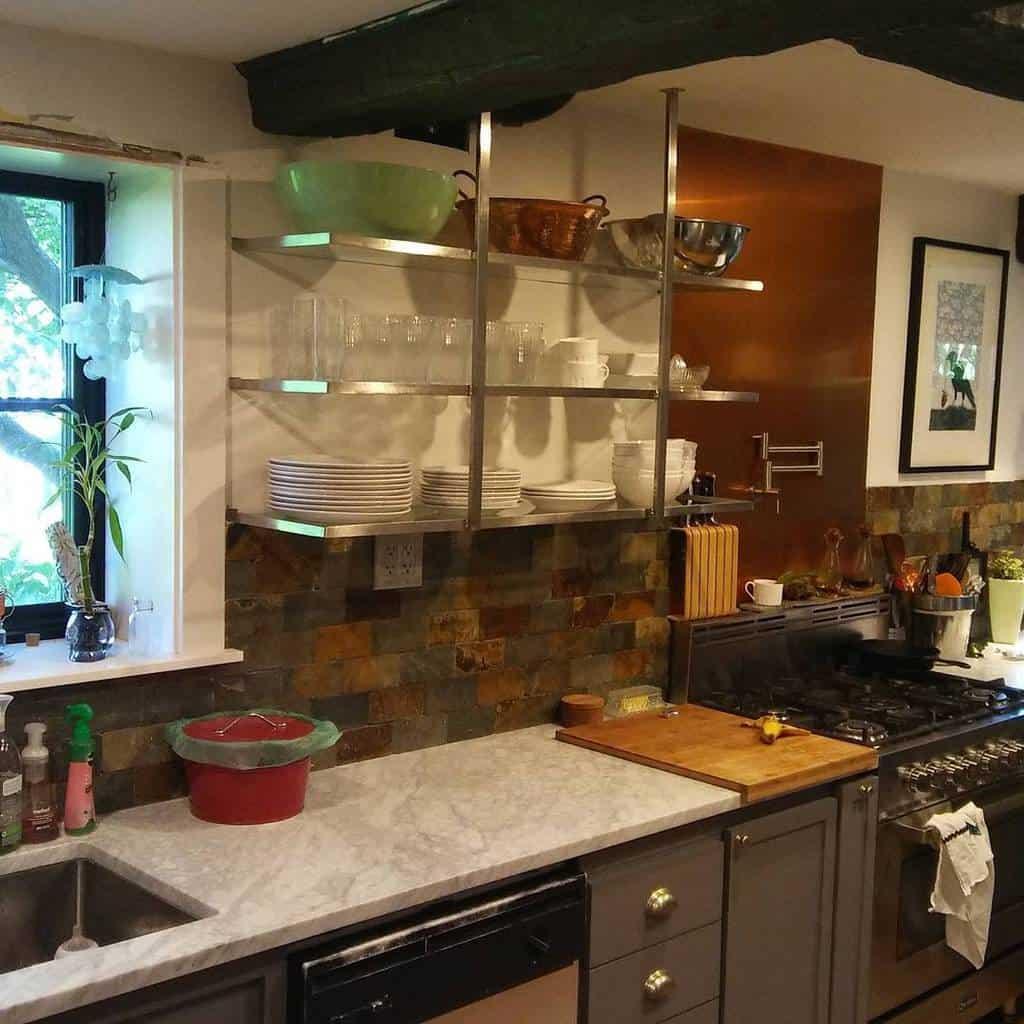 Metal Kitchen Shelf Ideas -jconradnivens