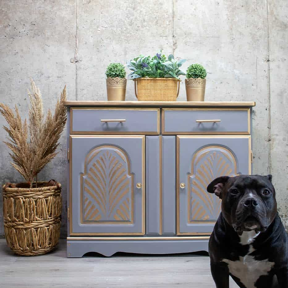 Metallic Highlights and Accents Chalk Paint Furniture Ideas -kachafurniture