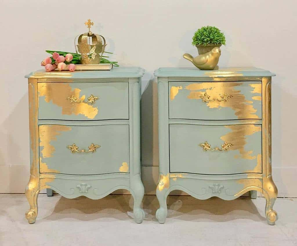 Metallic Highlights and Accents Chalk Paint Furniture Ideas -secondchancestudios29
