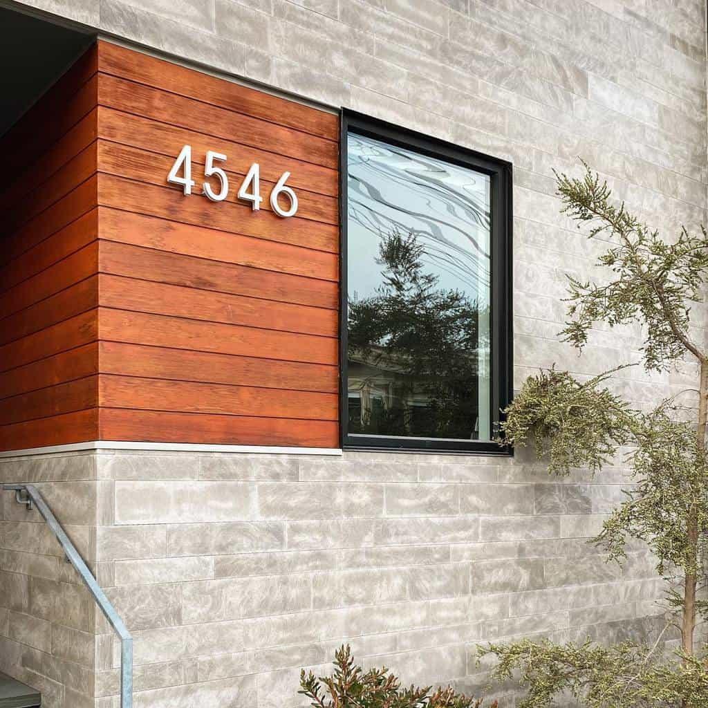 Modern House Number Ideas -itsmeviv28