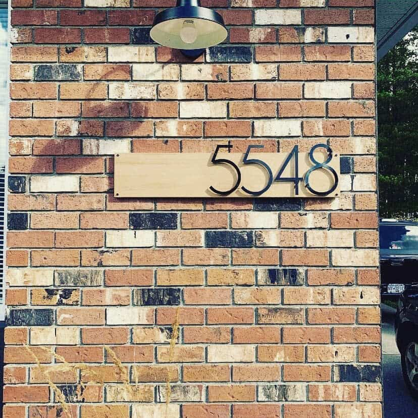 Modern House Number Ideas -letter.cut