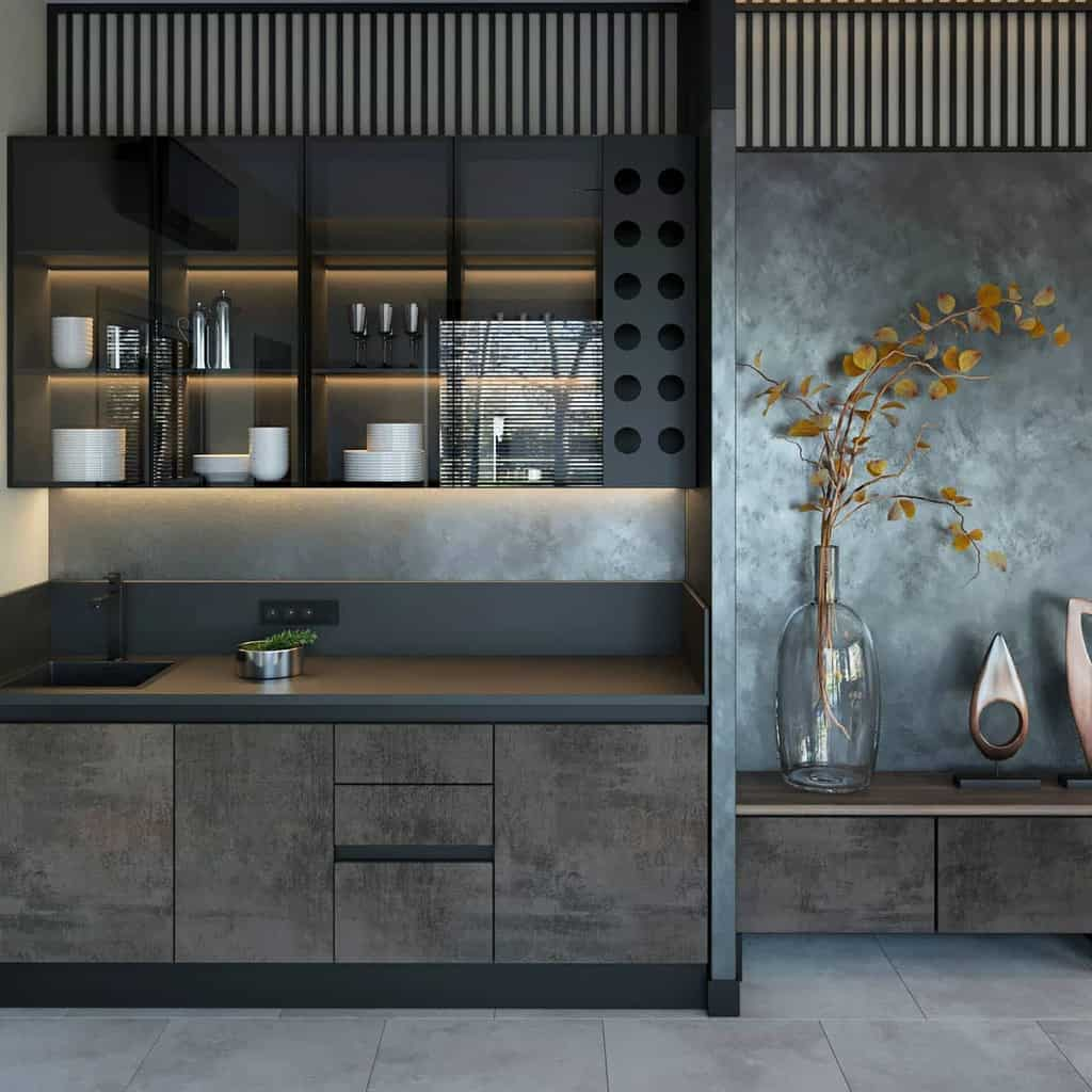 Narrow Kitchen Shelf Ideas -dubrovskaya_design