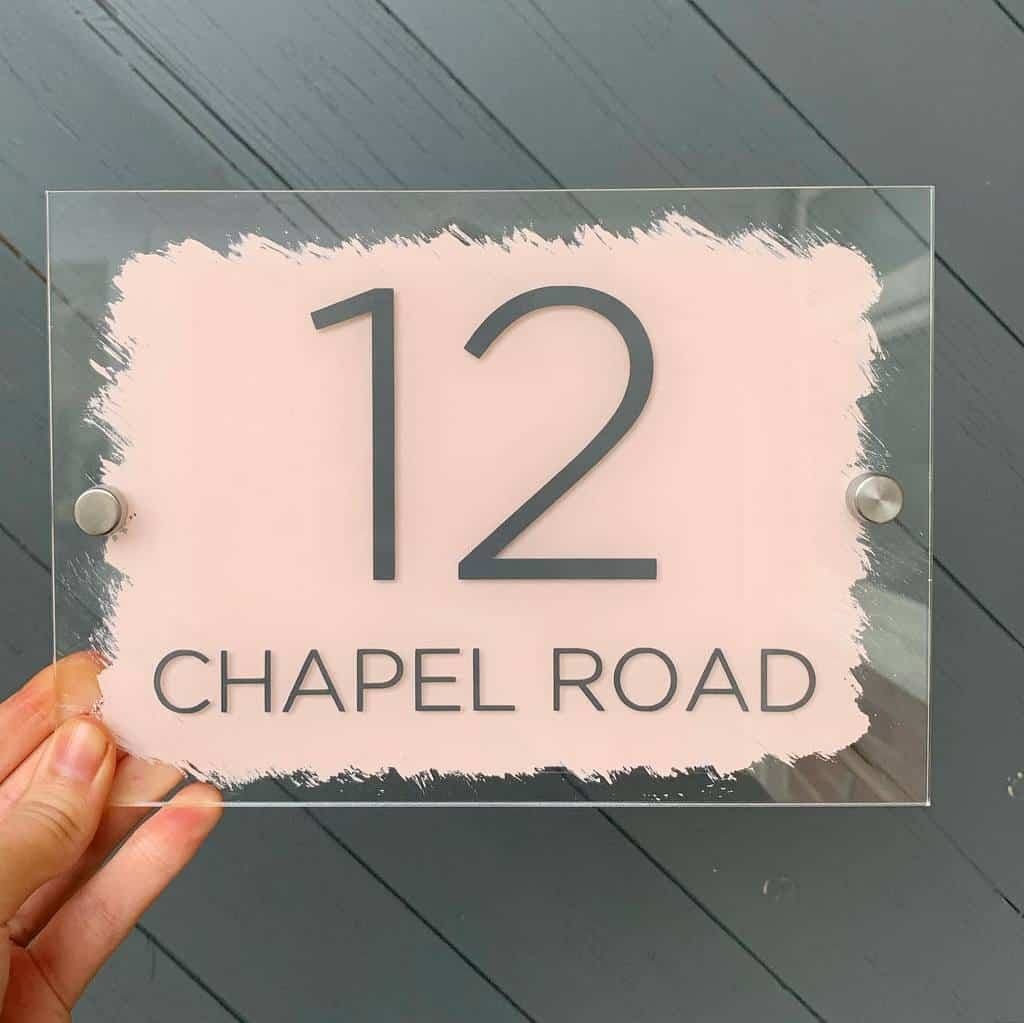 Number Plate House Number Ideas -blushhousedesigns