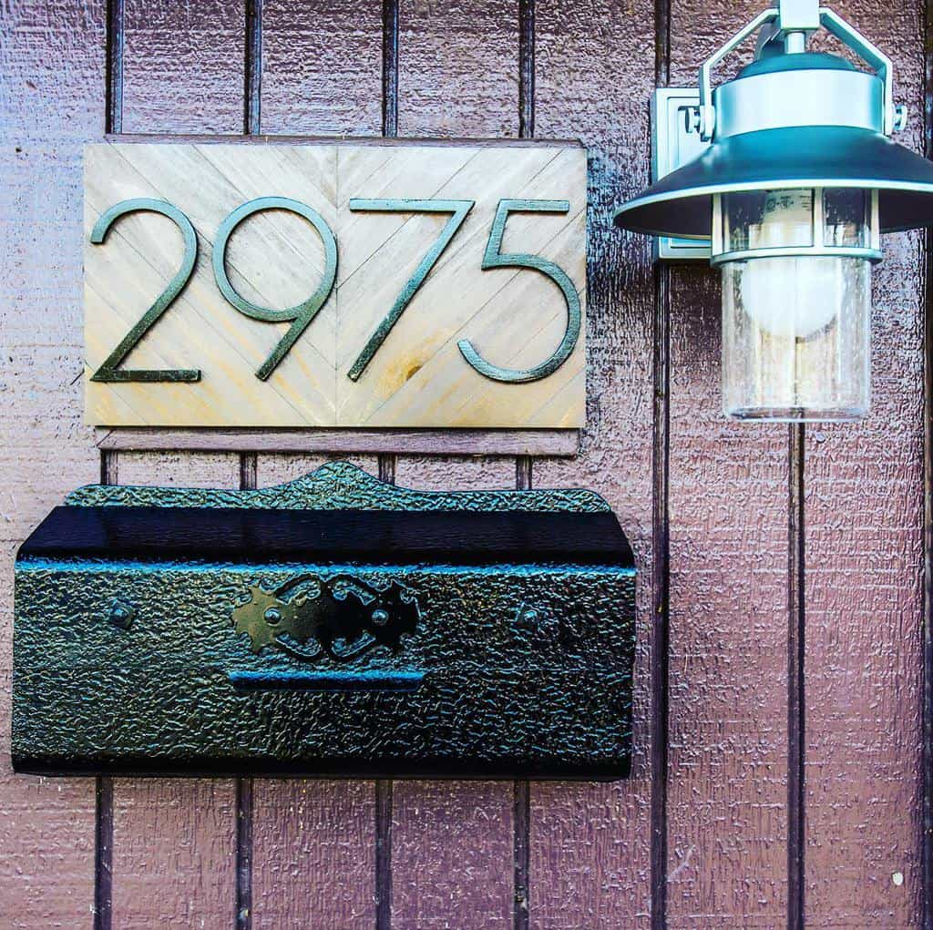 Number Plate House Number Ideas -means.and.methods