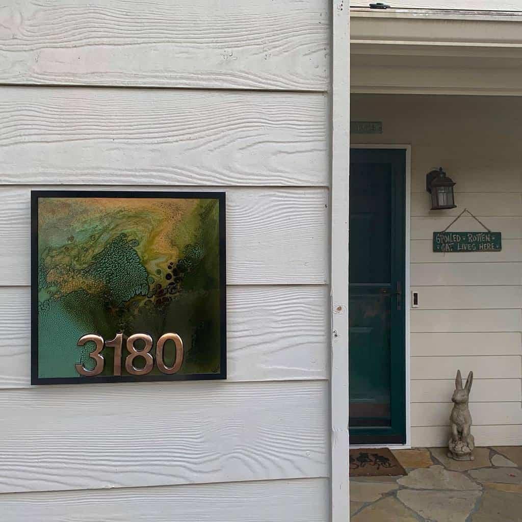 Number Plate House Number Ideas -reddfern