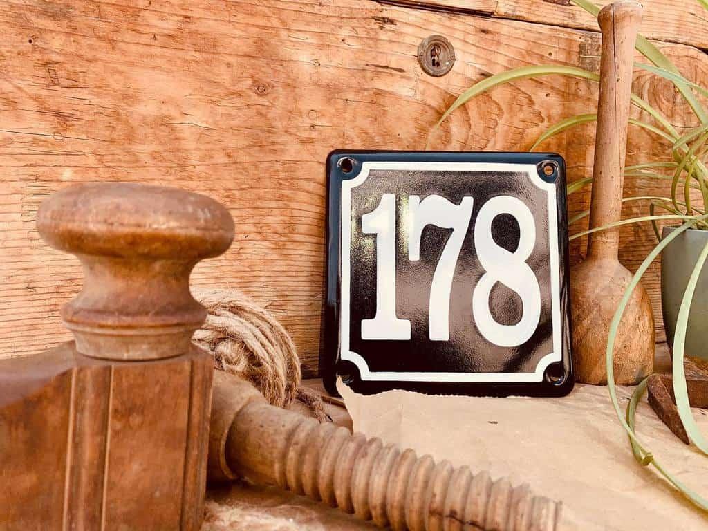 Number Plate House Number Ideas -smoekyvitreousenamel