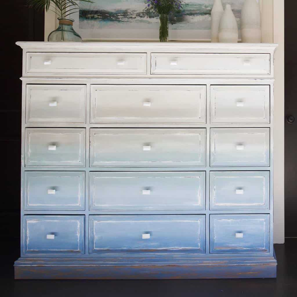 Ombre Chalk Paint Furniture Ideas -galina.hughes