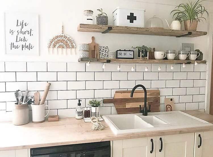 Open Kitchen Shelf Ideas -makemydaystationery
