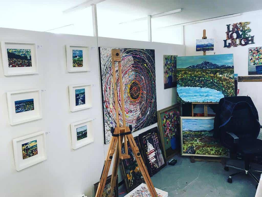 Painting Art Studio Ideas -jamiebanks_artist
