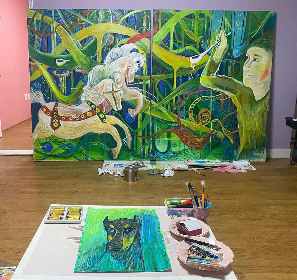Painting Art Studio Ideas -nasoomee3697