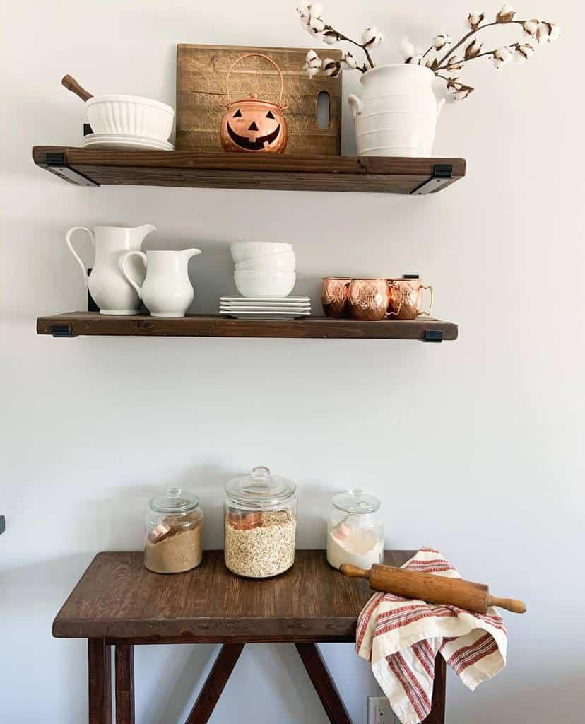 Pallet Kitchen Shelf Ideas -blessedandhumbledhome