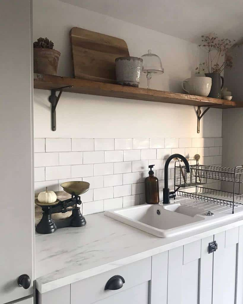 Pallet Kitchen Shelf Ideas -laurajaynehome