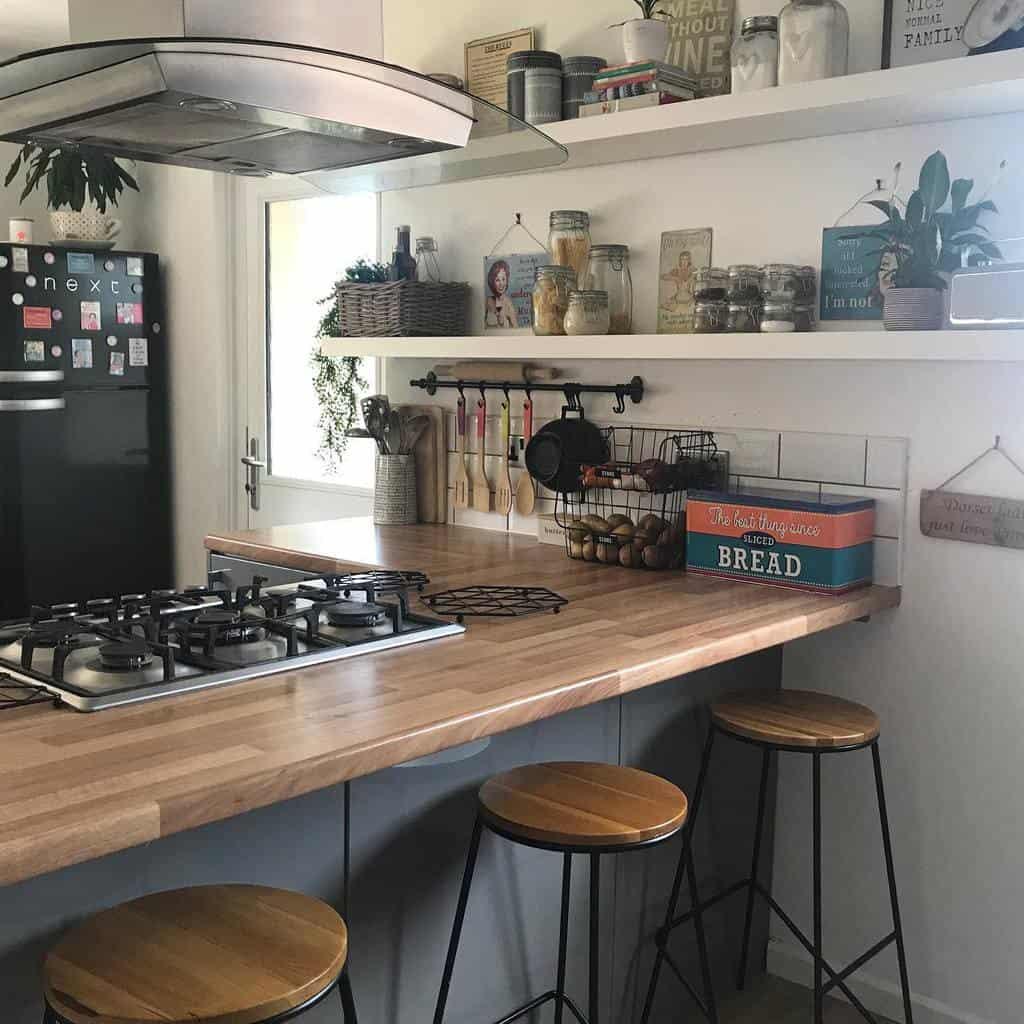 Pantry Kitchen Shelf Ideas -notjustagreyandwhitehome