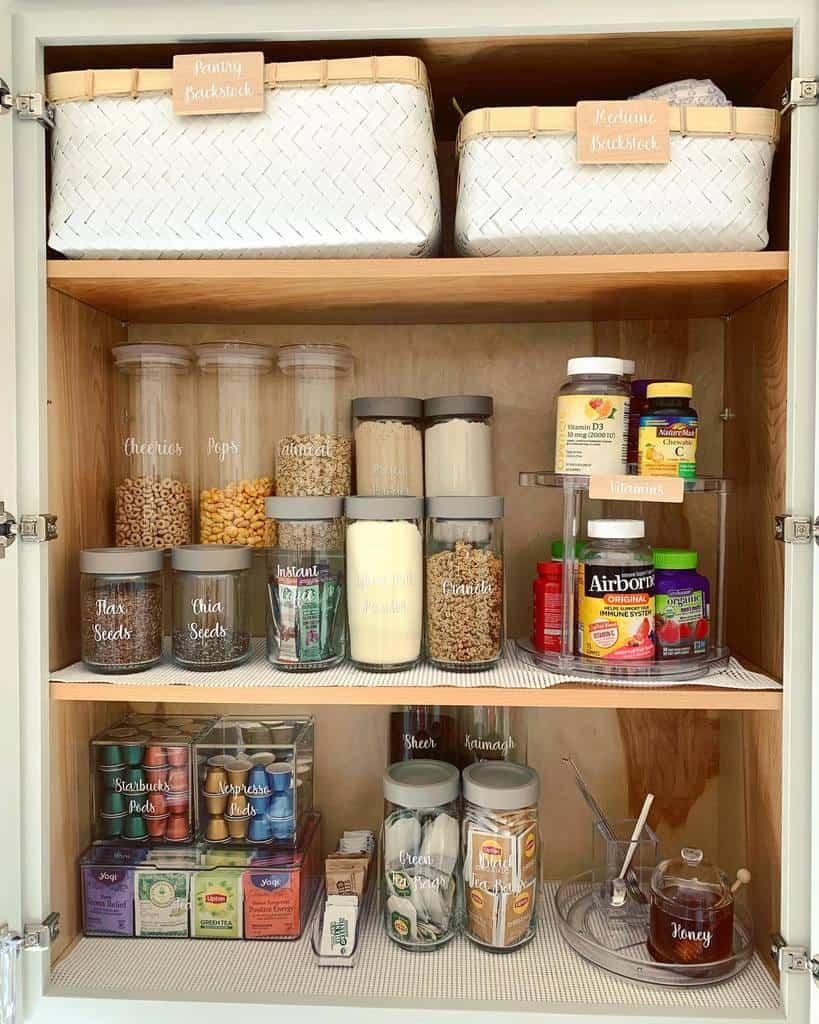 Pantry Kitchen Shelf Ideas -partylittledetails