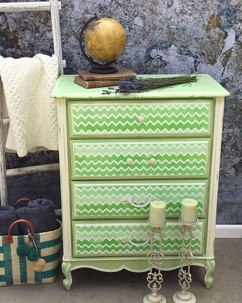 Pattern Chalk Paint Furniture Ideas -lazydaysandsundays