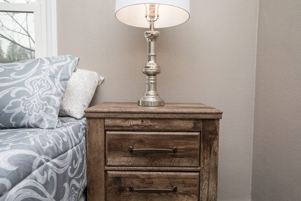 Wooden,Night,Stand,Or,Bedside,Table,In,A,Bedroom