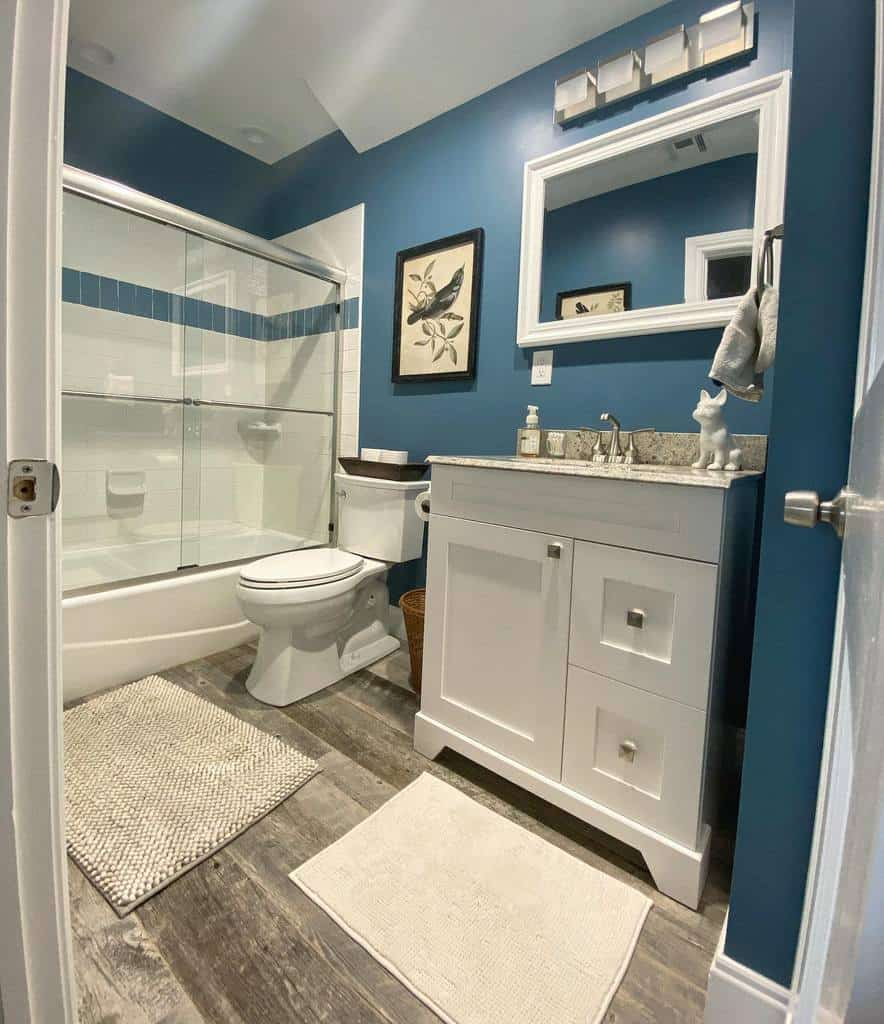 Simple Wet Room Ideas -red.barn_farmhouse