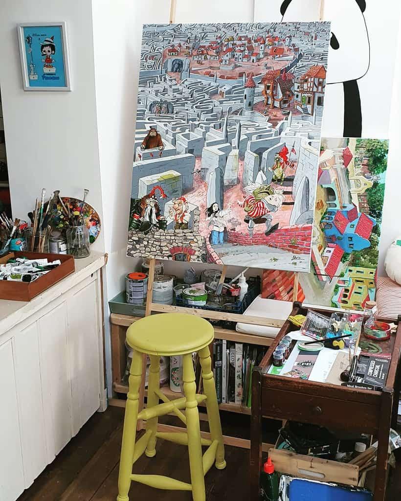 Small Art Studio Ideas -chris.creations.art