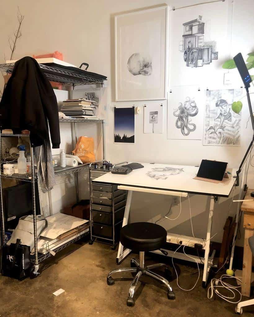 Small Art Studio Ideas -christinajamesart