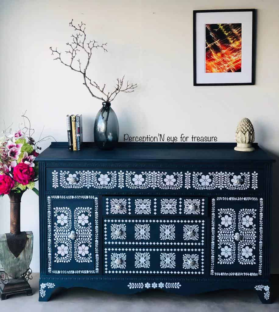 Stencil Chalk Paint Furniture Ideas -perception_an_eye_for_treasure