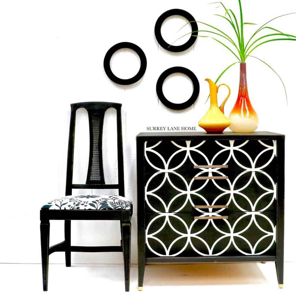 Stencil Chalk Paint Furniture Ideas -surrey_lane_home